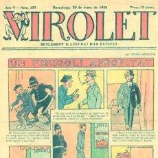 Tebeos: VIROLET Nº 220. SUPLEMENT D'EN PATUFET. 1926.. Lote 5236642
