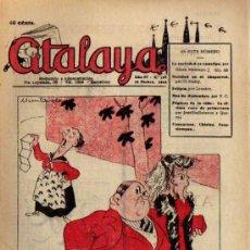 Tebeos: ATALAYA SEMANARIO DE HUMOR AÑO IV - Nº 159 - 23 DICIEMBRE 1944 - PORTADA MUNTAÑOLA. Lote 7740636