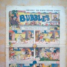 Tebeos: COMIC - BUBBLES 2D - Nº 655 - 4/12/1933 - FLEETWAY HOUSE - LONDON. Lote 21441464