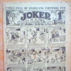 Tebeos: COMIC - THE JOKER 1D - Nº 315 - 11/11/1933 - THE AMALGAMATED PRESS - LONDON. Lote 21441460
