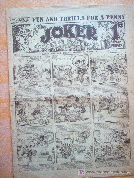 COMIC - THE JOKER 1D - Nº 314 - 4/11/1933 - THE AMALGAMATED PRESS - LONDON (Tebeos y Comics - Tebeos Clásicos (Hasta 1.939))