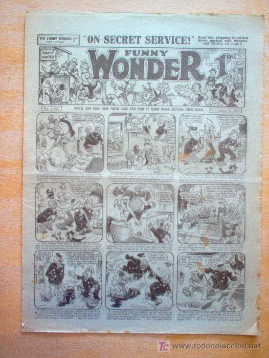 COMIC - FUNNY WONDER 1D - Nº 1025 - 18/11/1933 - THE AMALGAMATED PRESS - LONDON (Tebeos y Comics - Tebeos Clásicos (Hasta 1.939))