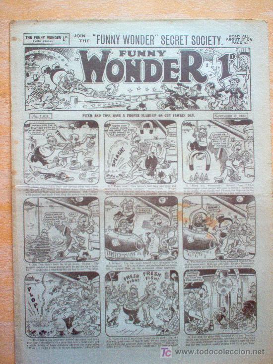 COMIC - FUNNY WONDER 1D - Nº 1024 - 11/11/1933 - THE AMALGAMATED PRESS - LONDON (Tebeos y Comics - Tebeos Clásicos (Hasta 1.939))