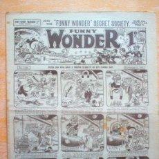 Tebeos: COMIC - FUNNY WONDER 1D - Nº 1024 - 11/11/1933 - THE AMALGAMATED PRESS - LONDON. Lote 21441457