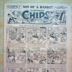 Tebeos: COMIC - ILLUSTRATED CHIPS 1D - Nº 2268 - 24/2/1934 - THE AMALGAMATED PRESS - LONDON. Lote 21441456