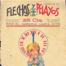 Tebeos: FLECHAS Y PELAYOS 1 ENERO 1939 NÚMERO 4. Lote 24583241