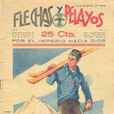 Tebeos: FLECHAS Y PELAYOS 15 ENERO 1939 NÚMERO 6. Lote 24605082