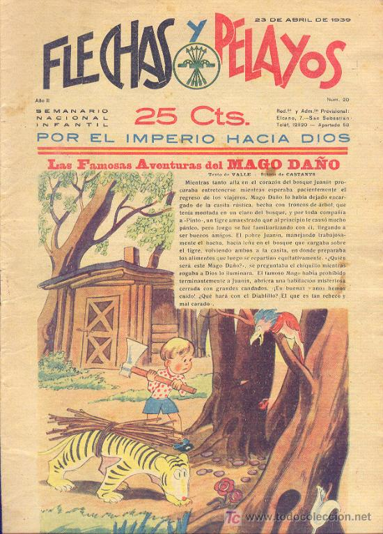 FLECHAS Y PELAYOS 23 ABRIL1939 NÚMERO 20 (Tebeos y Comics - Tebeos Clásicos (Hasta 1.939))