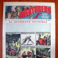 Tebeos: AVENTURERO, Nº 75 - EDITORIAL HISPANO AMERICANA 1935. Lote 8980302