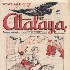 Tebeos: ATALAYA - SEMANARIO PARA TODOS - NÚMERO 22 - 9 DE MAYO DE 1942. Lote 42148952