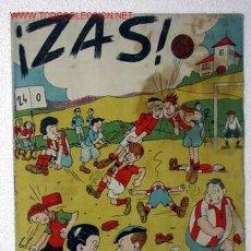 Tebeos: ¡ZAS! Nº 8. ÁNGEL PARDO, VÍCTOR DE LA FUENTE, VICENTE ROSO, GABI. ACCIÓN CATÓLICA, 1945. Lote 25942591