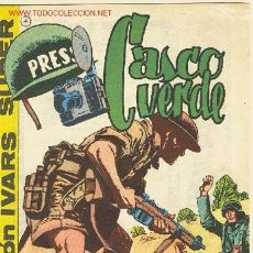Tebeos: CASCO VERDE, Nº 4 - EDITORIAL IVARS 1965. Lote 26856215