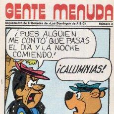 Tebeos: GENTE MENUDA Nº6 (HISTORIETAS DE POPEYE, DICK TRACY, FLASH GORDON, PÓSTER REAL MADRID,ETC). Lote 9808903