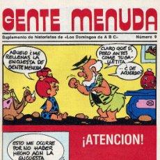 Tebeos: GENTE MENUDA Nº9 (HISTORIETAS DE LOS PICAPIEDRA, OSO YOGI, POPEYE, DANIEL EL TRAVIESO, DICK EL ARTIL. Lote 9809039