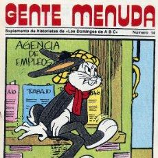 Tebeos: GENTE MENUDA Nº14 (SUPLEMENTO ABC) FLASH GORDON, HEIDI, DICK EL ARTILLERO,.PICAPIEDRA, PANTERA ROSA.. Lote 9830816