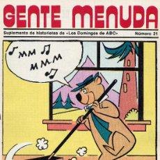 Tebeos: GENTE MENUDA Nº21 (SUPLEMENTO ABC) FLAS GORDON, HEIDI, DICK EL ARTILLERO,VICKIE, PININ DE ALFONSO. Lote 9914139