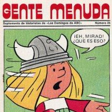 Tebeos: GENTE MENUDA Nº25 (SUPLEMENTO ABC) FLASH GORDON, HEIDI, DICK EL ARTILLERO,CHICHO Y COCA , PININ. Lote 9924224