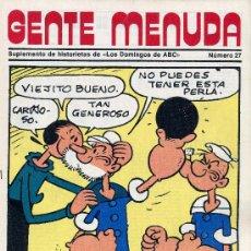Tebeos: GENTE MENUDA Nº27 (SUPLEMENTO ABC) PÓSTER DE FOFÓ, HEIDI, DICK EL ARTILLERO,CHICHO Y COCA , PININ. Lote 9955545