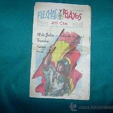 Tebeos: REVISTA DE FLECHAS Y PELAYOS DE 16 DE JULIO DE 1939. Lote 26927960