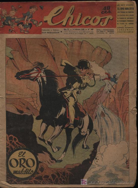 CHICOS. Nº 340 (Tebeos y Comics - Tebeos Clásicos (Hasta 1.939))