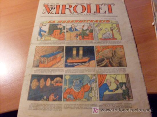 VIROLET AÑO 1925 ( SUPLEMENT IL.LUSTRAT D'EN PATUFET ) Nº 199 (Tebeos y Comics - Tebeos Clásicos (Hasta 1.939))