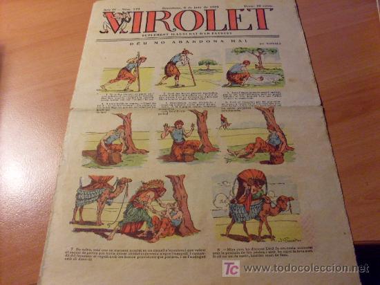 VIROLET AÑO 1925 ( SUPLEMENT IL.LUSTRAT D'EN PATUFET ) Nº 179 (Tebeos y Comics - Tebeos Clásicos (Hasta 1.939))