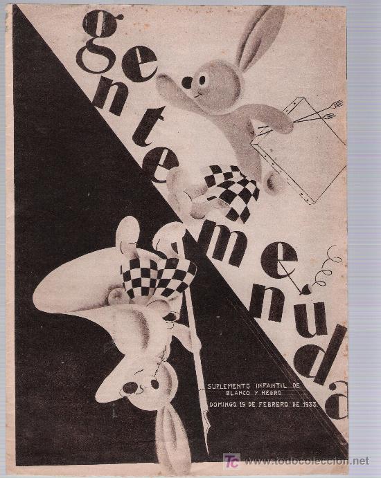 GENTE MENUDA. 19 DE FEBRERO DE 1933. (Tebeos y Comics - Tebeos Clásicos (Hasta 1.939))