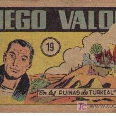 Tebeos: DIEGO VALOR Nº 19. EDITORIAL CID 1954.. Lote 14793285