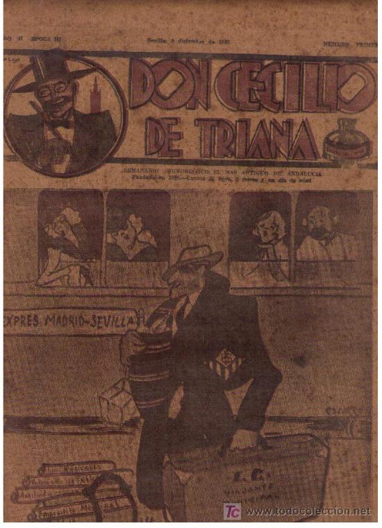 DON CECILIO DE TRIANA. Nº PRIMERO (1). SEVILLA 1935. RARO (Tebeos y Comics - Tebeos Clásicos (Hasta 1.939))