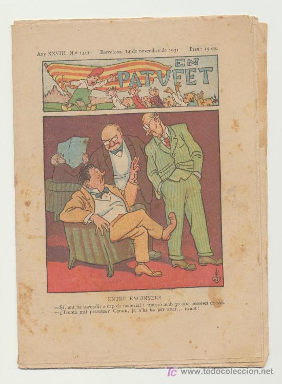 EN PATUFET Nº 1441. AÑO 1931 (Tebeos y Comics - Tebeos Clásicos (Hasta 1.939))