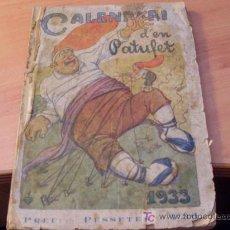 Tebeos: EN PATUFET ( CALENDARI 1933 ) . Lote 17276300