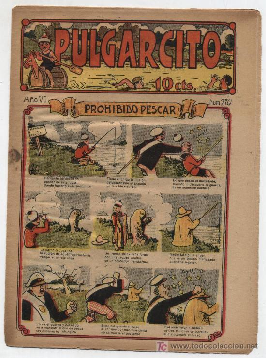 PULGARCITO Nº 270. GATO NEGRO 1921. (Tebeos y Comics - Tebeos Clásicos (Hasta 1.939))