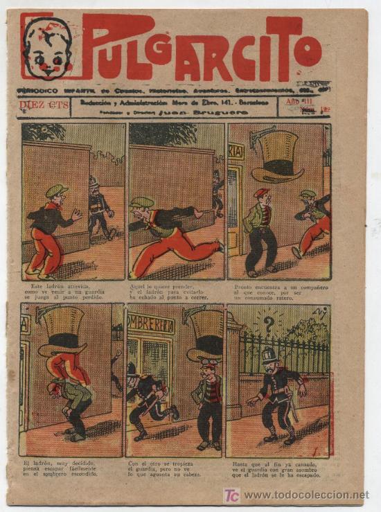 PULGARCITO Nº 122. GATO NEGRO 1921.EN CONTRAPORTADA COMO SE JUEGA A FOOT BALL. (Tebeos y Comics - Tebeos Clásicos (Hasta 1.939))