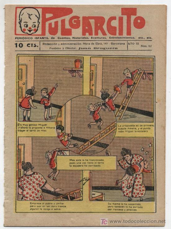 PULGARCITO Nº 127. GATO NEGRO 1921.EN CONTRAPORTADA COMO SE JUEGA A FOOT BALL. (Tebeos y Comics - Tebeos Clásicos (Hasta 1.939))