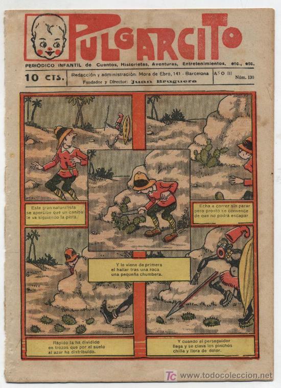 PULGARCITO Nº 130. GATO NEGRO 1921.EN CONTRAPORTADA COMO SE JUEGA A FOOT BALL. (Tebeos y Comics - Tebeos Clásicos (Hasta 1.939))