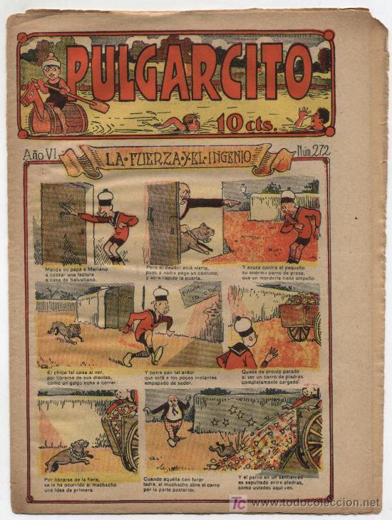 PULGARCITO Nº 272. GATO NEGRO 1921 (Tebeos y Comics - Tebeos Clásicos (Hasta 1.939))