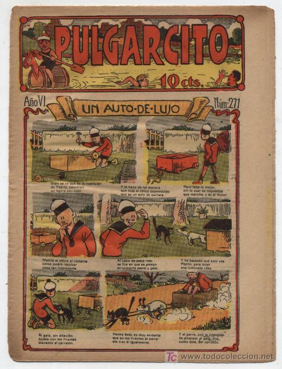 PULGARCITO Nº 271. GATO NEGRO 1921 (Tebeos y Comics - Tebeos Clásicos (Hasta 1.939))