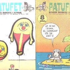 Tebeos: 2 COMIC DE LA REVISTA INFANTIL I JUVENIL PATUFET, AÑO 1972 N 131 Y 132. Lote 17752863