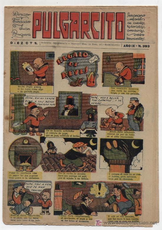 PULGARCITO Nº 393. GATO NEGRO 1921. (Tebeos y Comics - Tebeos Clásicos (Hasta 1.939))