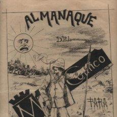 Tebeos: MADRID CÓMICO. ALMANAQUE 1889. DE LAS 22 PÁGINAS,10 SON DE VIÑETAS. MUY RARO. Lote 24365161
