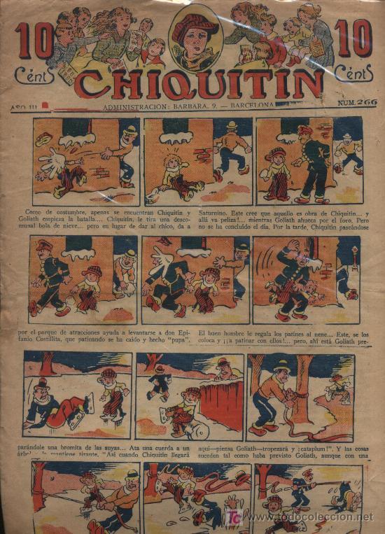 CHIQUITÍN Nº 266. MARCO 1925. (Tebeos y Comics - Tebeos Clásicos (Hasta 1.939))
