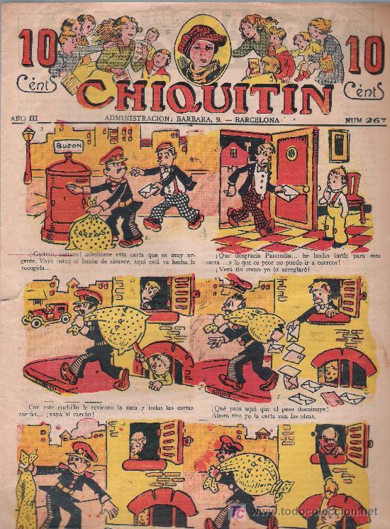 CHIQUITÍN Nº 267. MARCO 1925. (Tebeos y Comics - Tebeos Clásicos (Hasta 1.939))