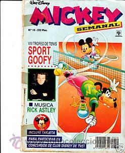CÓMIC WALT DISNEY MICKEY SEMANAL Nº 10 ED.PRIMAVERA (Tebeos y Comics - Tebeos Otras Editoriales Clásicas)