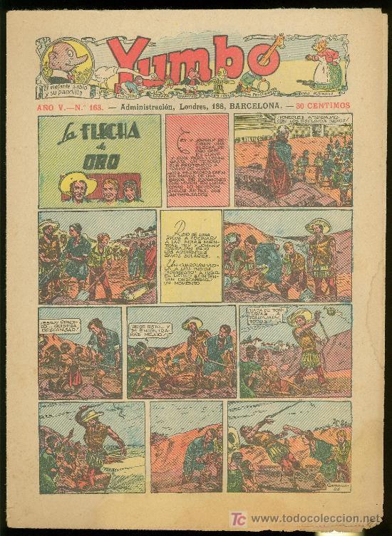 YUMBO. AÑO V. Nº 163. HISPANO AMERICANA DE EDICIONES. (Tebeos y Comics - Tebeos Clásicos (Hasta 1.939))