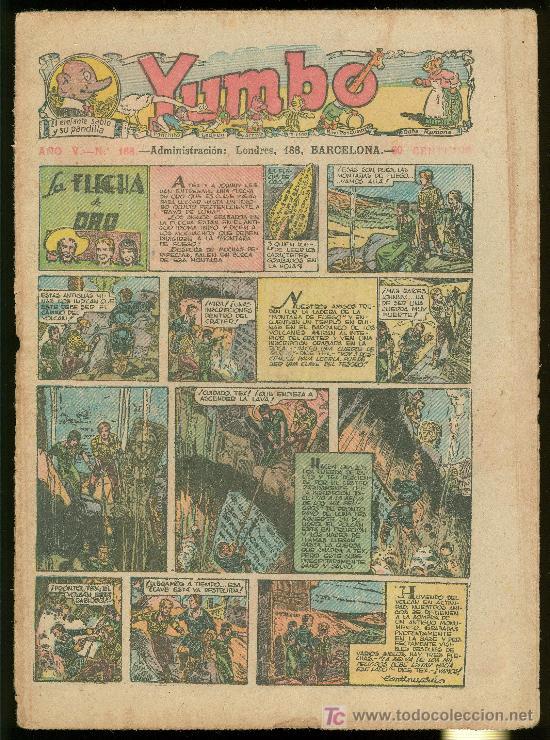 YUMBO. AÑO V. Nº 188. HISPANO AMERICANA DE EDICIONES. (Tebeos y Comics - Tebeos Clásicos (Hasta 1.939))