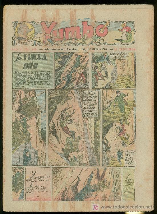 YUMBO. AÑO V. Nº 154. HISPANO AMERICANA DE EDICIONES. (Tebeos y Comics - Tebeos Clásicos (Hasta 1.939))