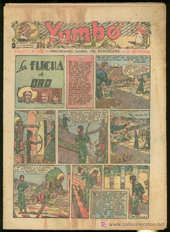 YUMBO. AÑO IV. Nº 151. HISPANO AMERICANA DE EDICIONES. (Tebeos y Comics - Tebeos Clásicos (Hasta 1.939))