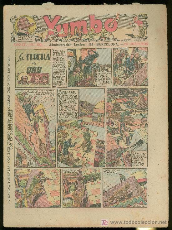YUMBO. AÑO IV. Nº 150. HISPANO AMERICANA DE EDICIONES. (Tebeos y Comics - Tebeos Clásicos (Hasta 1.939))