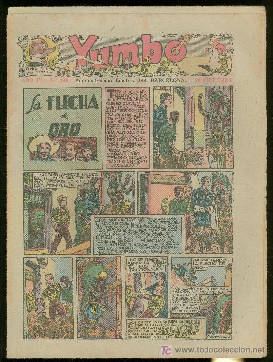 YUMBO. AÑO IV. Nº 149. HISPANO AMERICANA DE EDICIONES. (Tebeos y Comics - Tebeos Clásicos (Hasta 1.939))