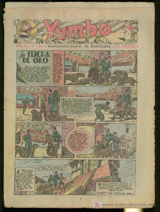 YUMBO. AÑO IV. Nº 148. HISPANO AMERICANA DE EDICIONES. (Tebeos y Comics - Tebeos Clásicos (Hasta 1.939))